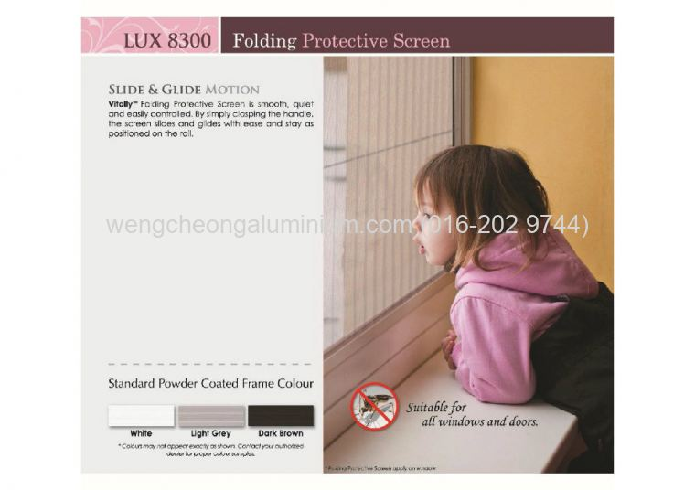 Vitally Aluminium Insect Screen ( LUX 8300 )