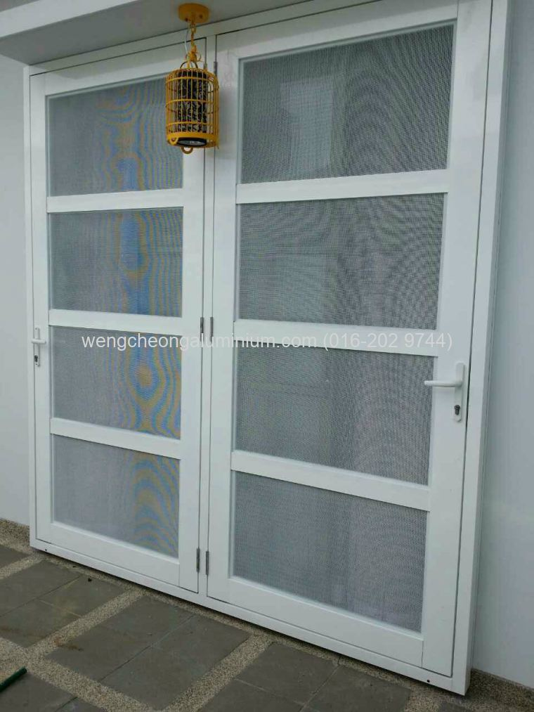 Aluminium Insert Screen Swing Door