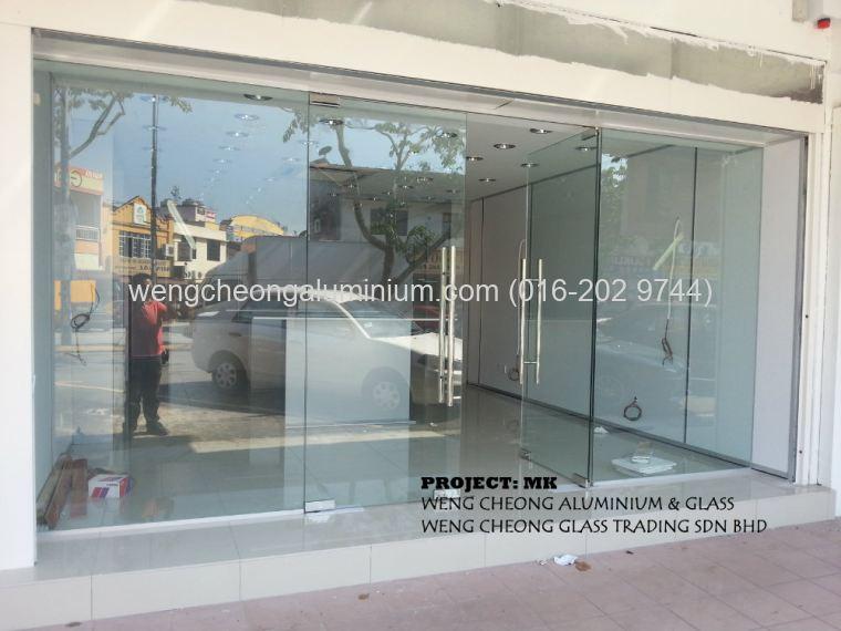 Front shop tempered door sungai buloh selangor malaysia interior front shop tempered door planetlyrics Gallery