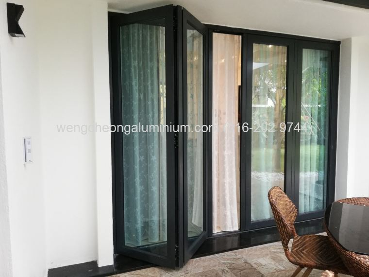 Folding Door (Light Green Glass)