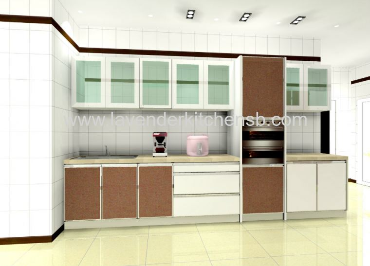 3D Drawing Kitchen Cabinet Design