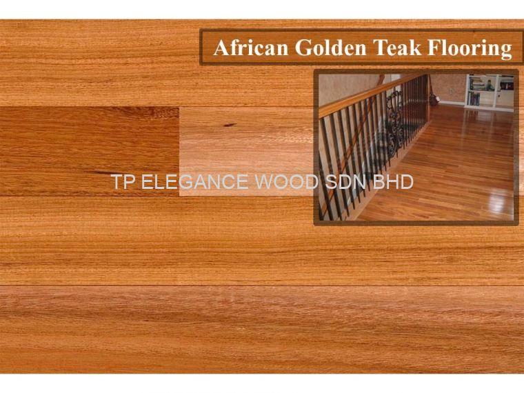 African Golden Teak Timber Flooring Johor Bahru Jb