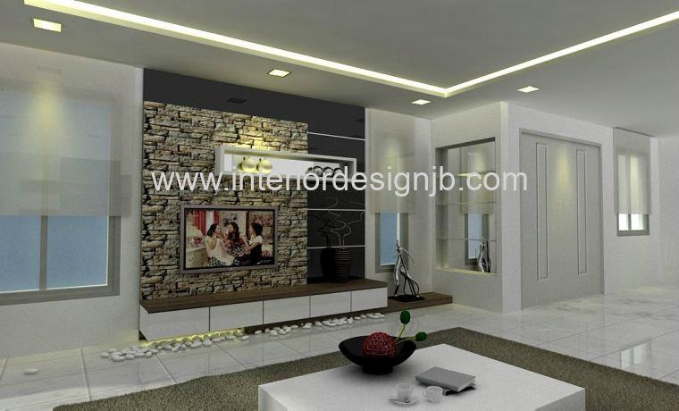 Living hall tv cabinet tv wall panel design taman for Interior tv wall designs for hall