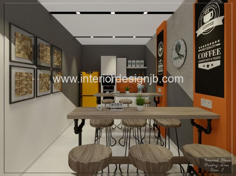 Office Pantry Design (Coffee Cafe Concept) - Taman Nusa Best