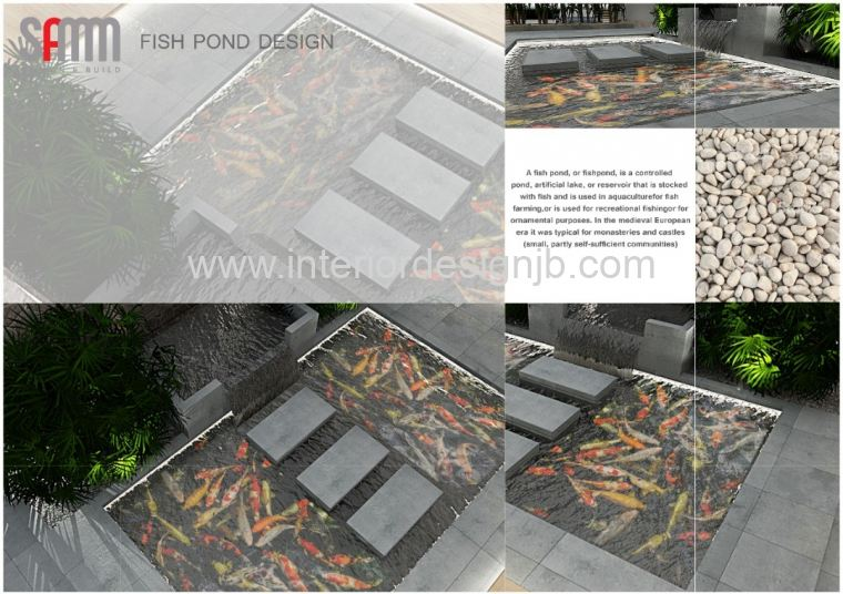 fish pond contractor . Design fish pond . Design water featu