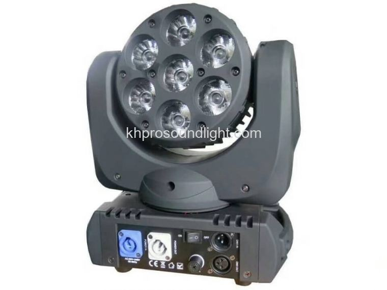 LED 7 pcs12W 4color wash moving head light