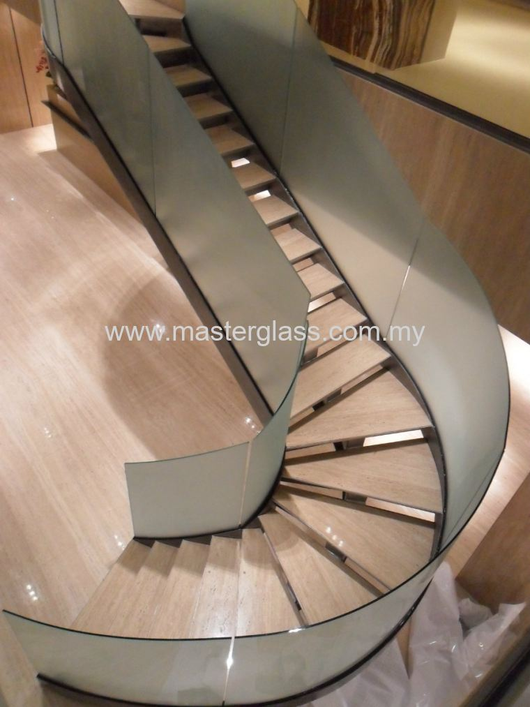 Curved Staircase Railing