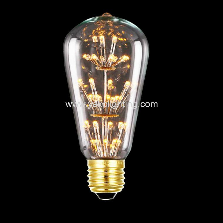 T64 LED 4W STAR LIGHT EDISON BULB