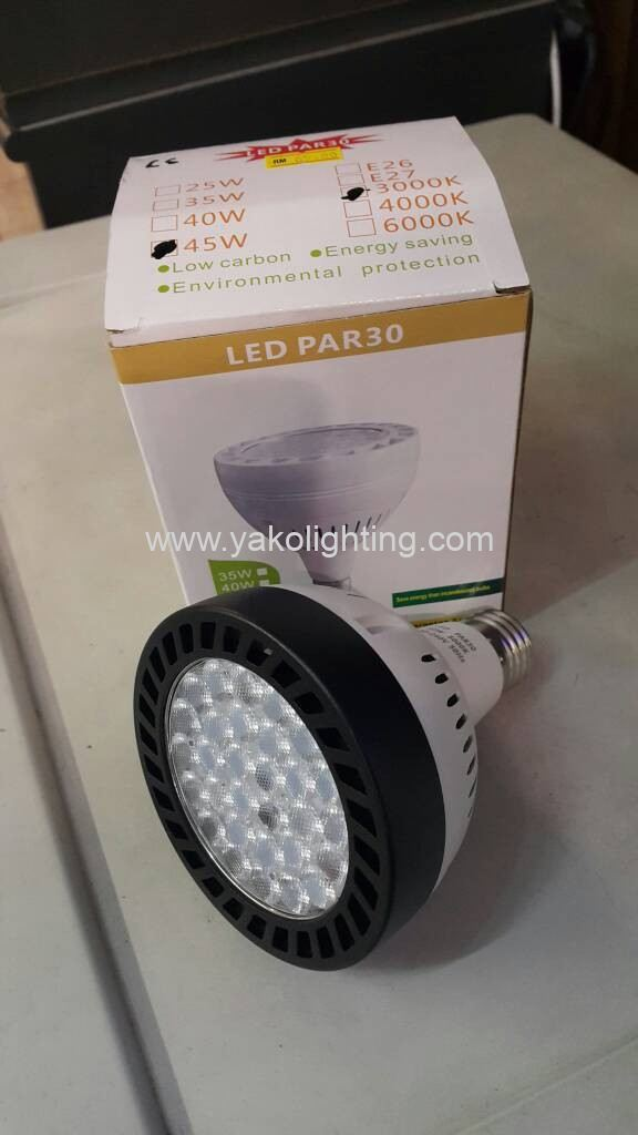 PAR30 45W COB LED BULB , WHITE & WARM )