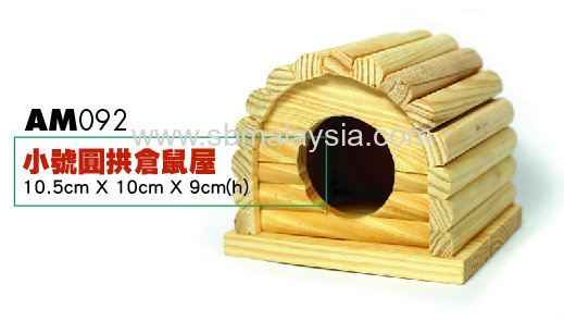 AM092  Wooden House Rounded Roof