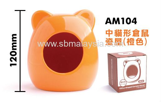 AM104  Ceramic Hamster House - Orange