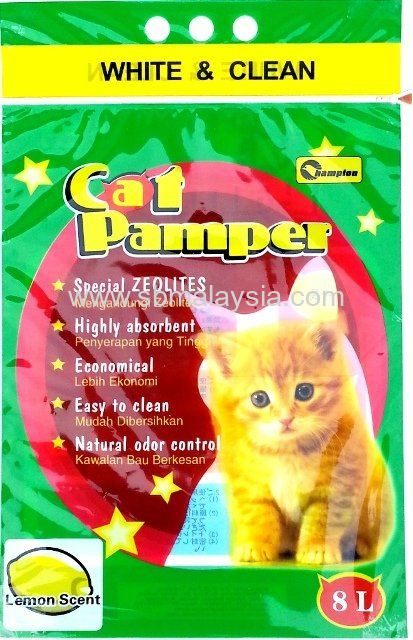 CPL-008 Champion Cat Pamper Lemon 8L
