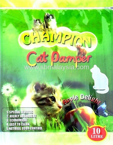 CPA-010 Champion Cat Pamper Apple 10L