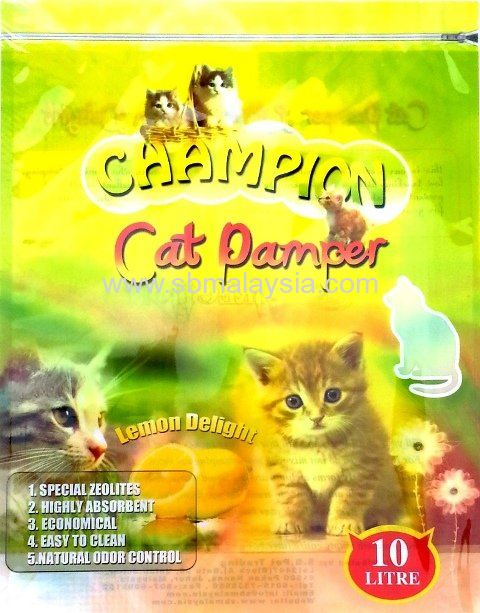 CPL-010 Champion Cat Pamper Lemon 10L