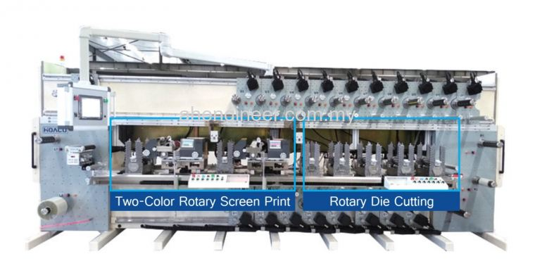Screen/Flexo Printing + Rotary Die Cutting Machine