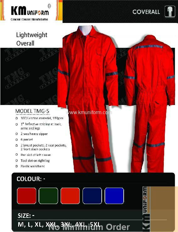 KM Safety Vest Overall Jacket TMG S