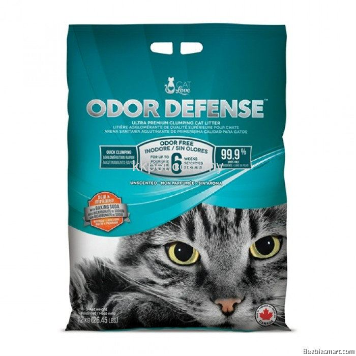 CAT LOVE ODOR DEFENSE UNSCENTED PREMIUM CLUMPING CAT LITTER