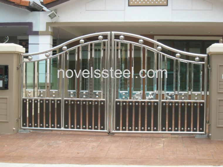 Stainless steel main gate 075 stainless steel main gate for Door design johor bahru