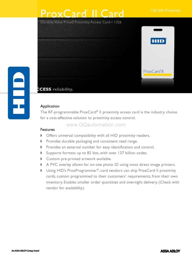 Hid-1326-Proxcard