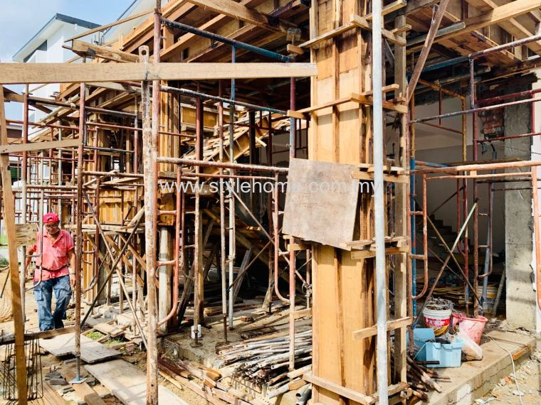 3 Storey Semi D structure work by Stylehome