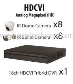 1100 Series (720P) HDCVI 16 Channel 720P HD Package