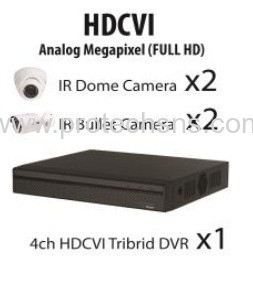 1200 Series (1080P) HDCVI 4 Channel 1080P Full HD Package