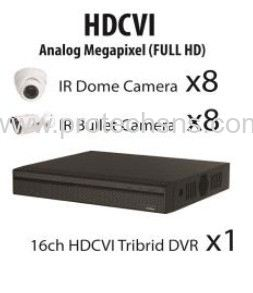 1200 Series (1080P) HDCVI 16 Channel 1080P Full HD Package