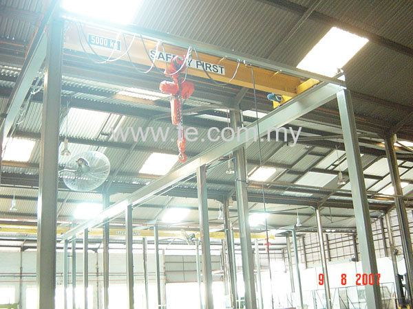 5TON SINGLE GIRDER OVERHEAD CRANE COME WITH ELECTRIC CHAIN H