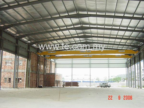 5 TON SINGLE GIRDER OVERHEAD CRANE . SPAN 30 M -2 UNIT