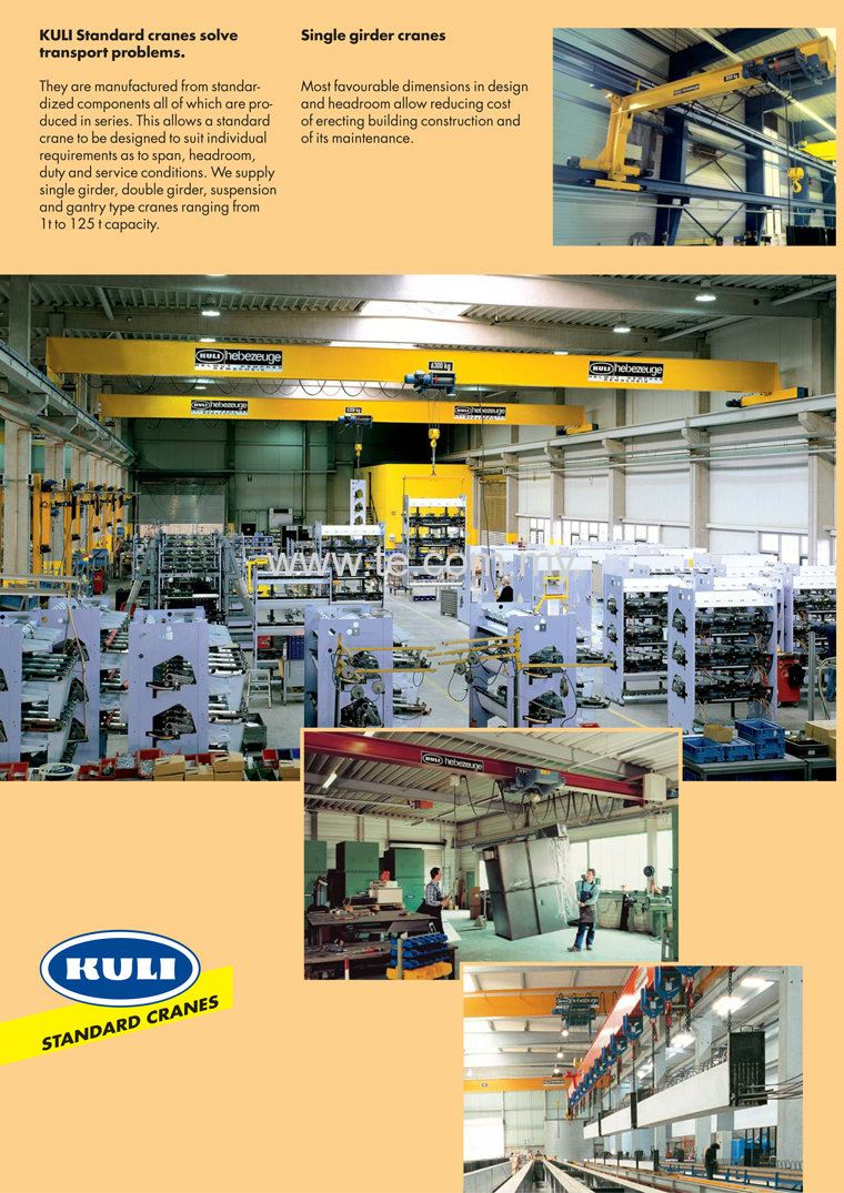 Kuli Single Girder overhead crane
