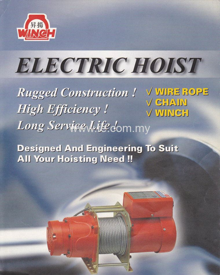 Seng Yang Electric Winch . Single Phase . Design for high li