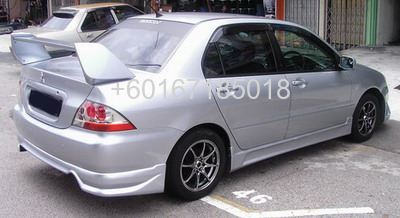 MITSUBISHI LANCER CS3 BODYKIT rear bumper lip on