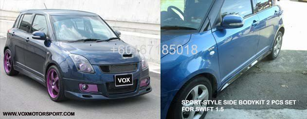 suzuki swift side skirt body kit sport