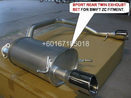 suzuki swift exhoust system FOR SPORT REAR BUMPER FITMENT