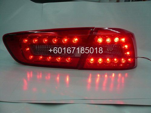 mitsubishi lancer ex audi look led tail lamp