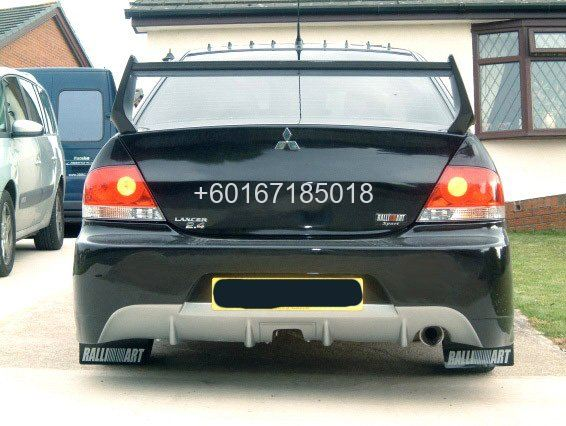 mitsubishi lancer cs3 bodykit evo 9 rear bumper with. Black Bedroom Furniture Sets. Home Design Ideas