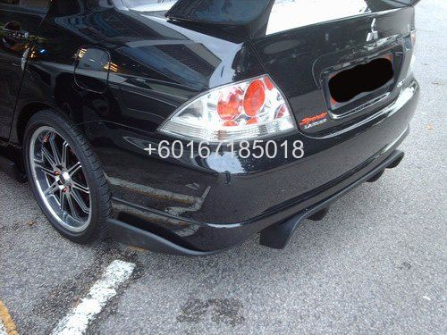 mitsubishi lancer cs3 v lip rear bumper add on