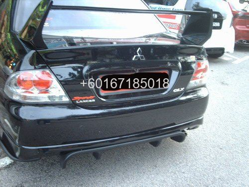 mitsubishi lancer cs3 rear bumper centre diffuser