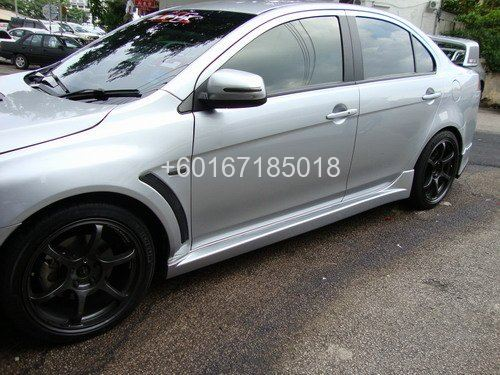 mitsubishi lancer bodykit evo x side skirting pp