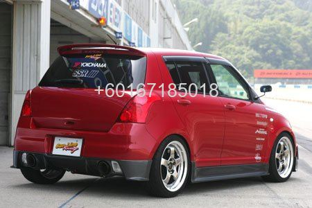 suzuki swift zc31s bodykit rear bumper carbon lip on sunline