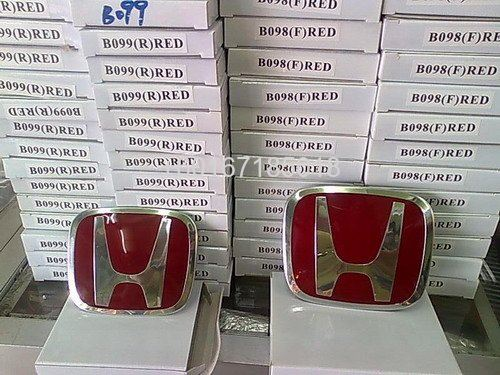 honda civic fd logo red front and rear