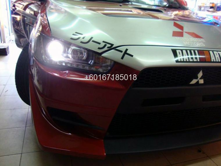 MITSUBISHI LANCER GT HEAD LAMP AUDI PROJECTOR