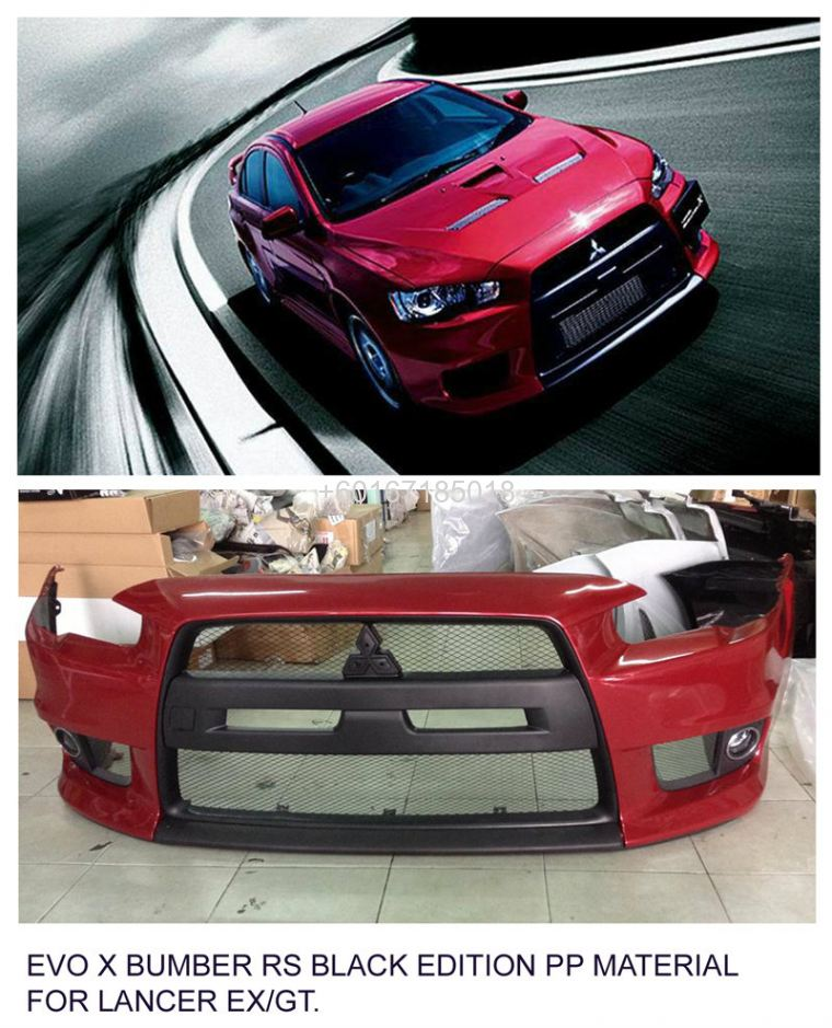 LANCER EX BODYKIT EVO X RS BUMPER BLACK EDITION PP MATERIAL