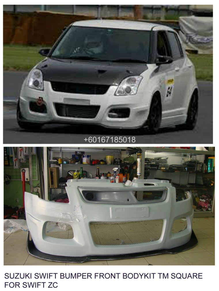 SUZUKI SWIFT bodykit TM SQUARE BUMPER FRONT