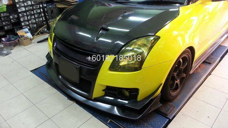 suzuki swift bodykit h brace bumper cover carbon