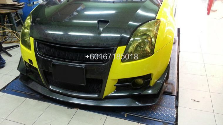 suzuki swift bodykit h brace bumper carbon cover