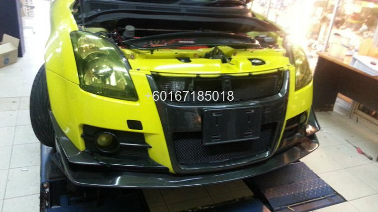 suzuki swift bodykit bumper h brace carbon cover