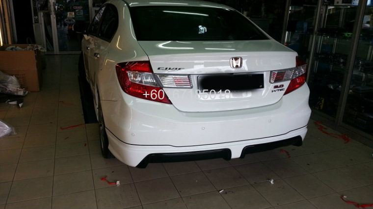 2013 honda civic mugen bodykit rear skirt