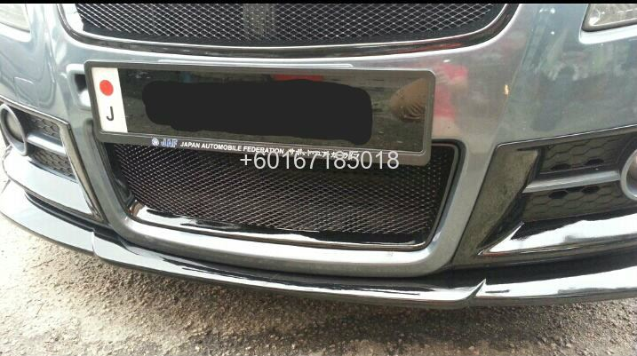 suzuki swift bodykit chargespeed bumper lip on