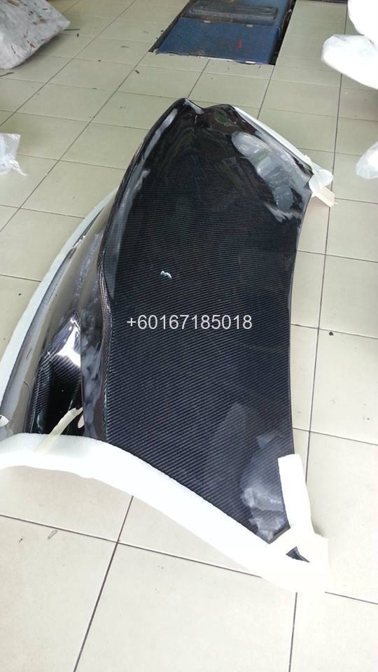mitsubishi lancer evo x rear trunk bonet carbon